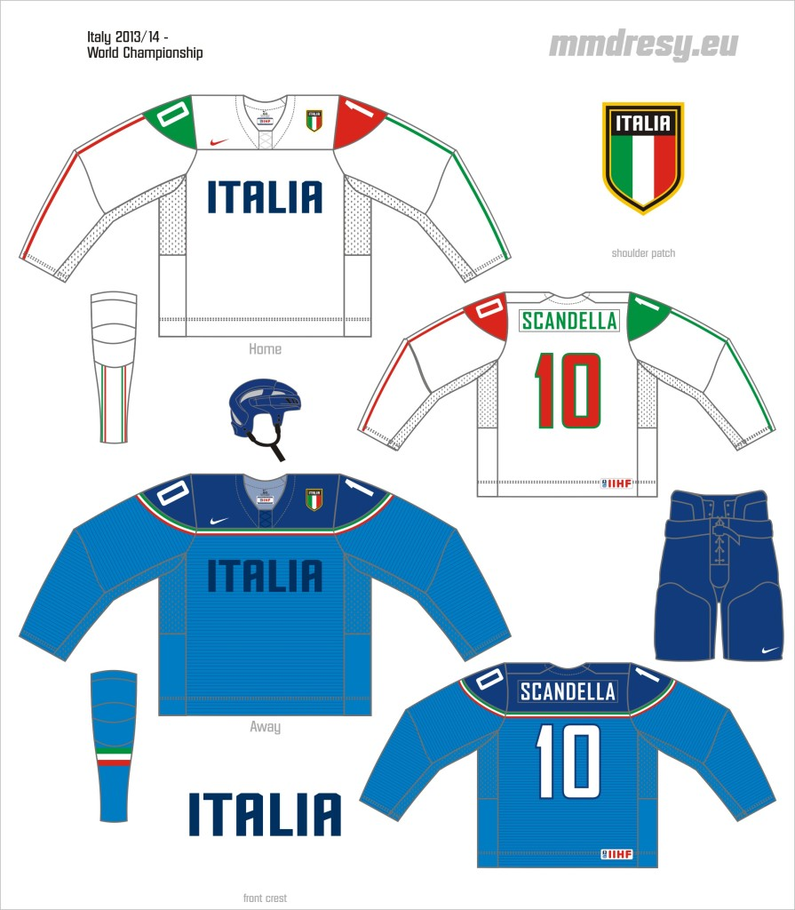 italy 2013-14 - wc jerseys