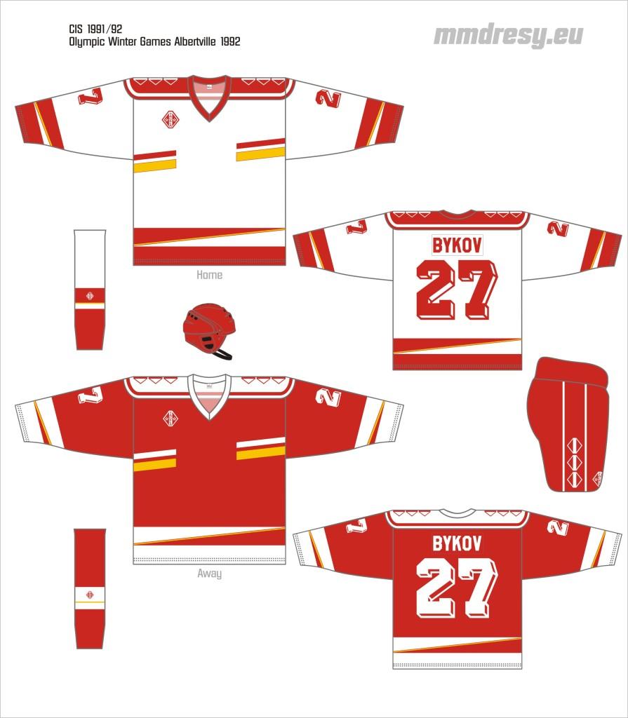 cis 1991-92 owg jerseys