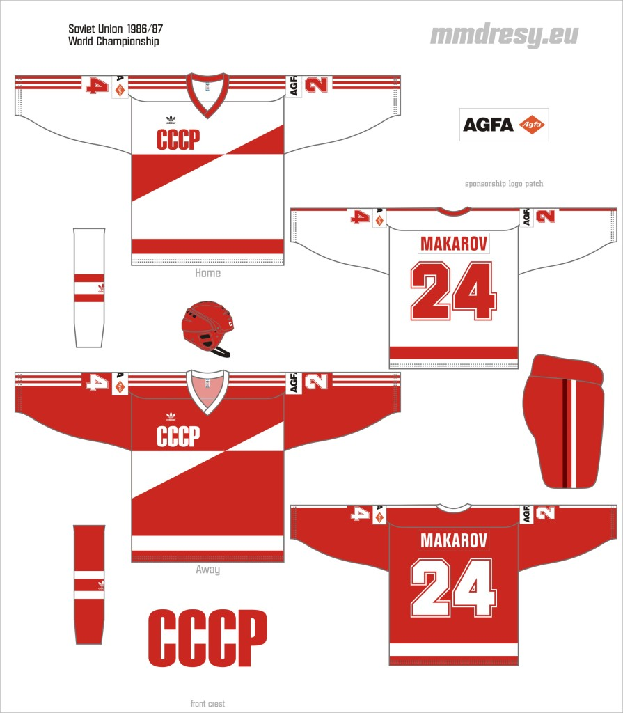 soviet union 1986-87 wc jerseys