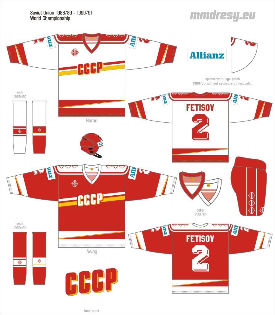 soviet union 1988-89 - 90-91 wc jerseys